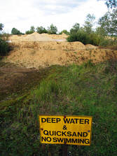 Quicksand: impossible to escape from, but at the same time impossible to drown in.
