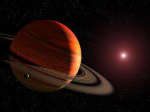 Figure 1: An artist's view of a planet around a red dwarf star.