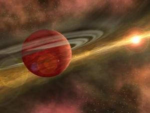 Figure 3: Out of the Dust, A Planet is Born