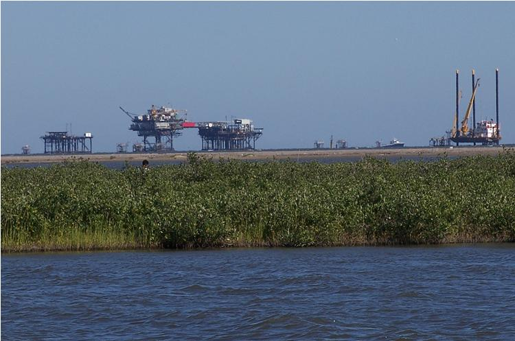 Offshore Oil Rigs and Gas Platforms of the Louisiana Wetlands