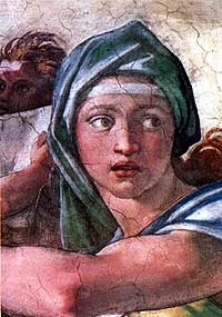 Michelangelo's representation of the Pythia