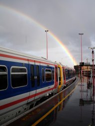 London train rainbow