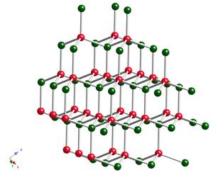 The crystal structure of the cubic form of boron nitride, c-BN
