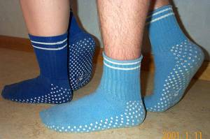Picture of Swedish original non-skid socks from Nowali.