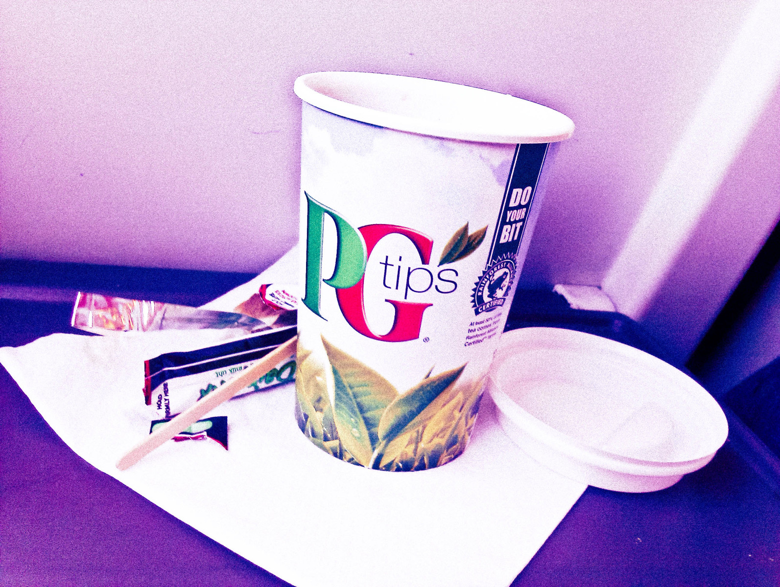 Cup of tea on the train