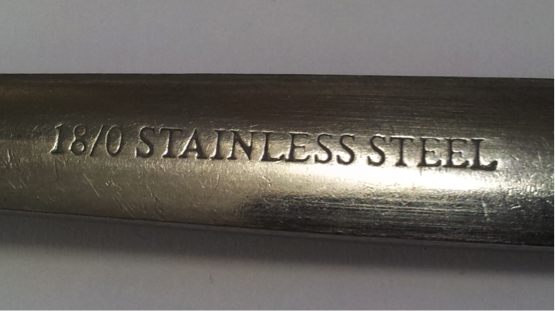 Stainless steel mark