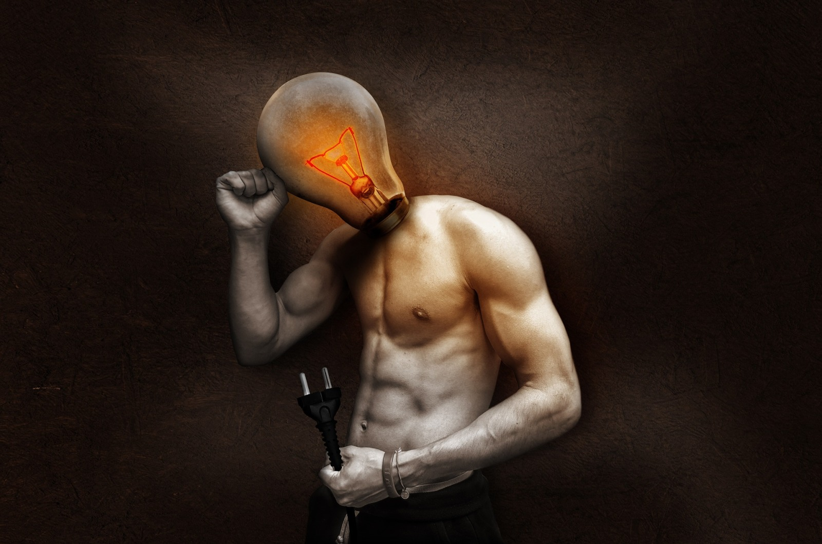 Light bulb man