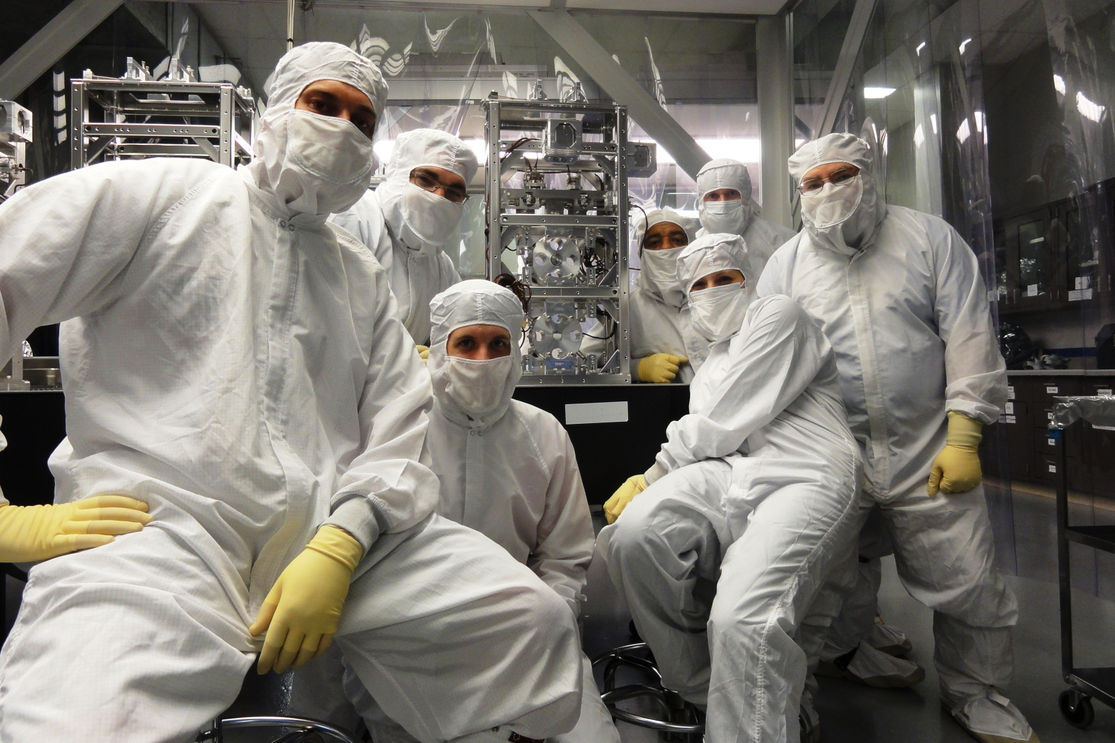 Some of the LIGO installation team