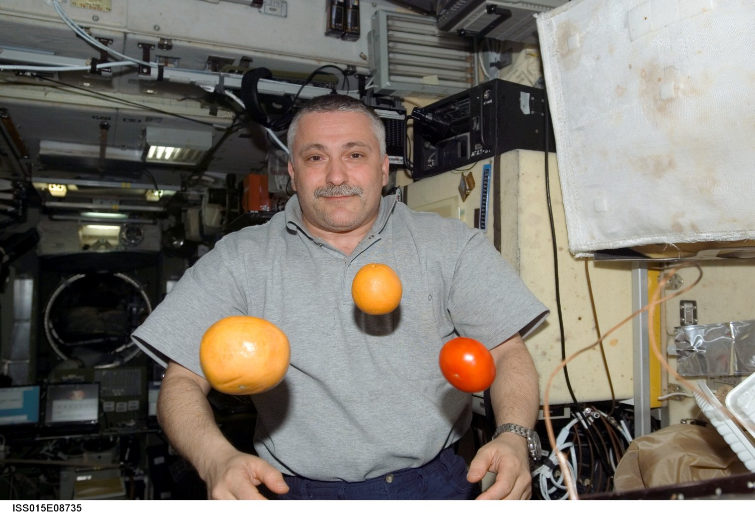 On the ISS