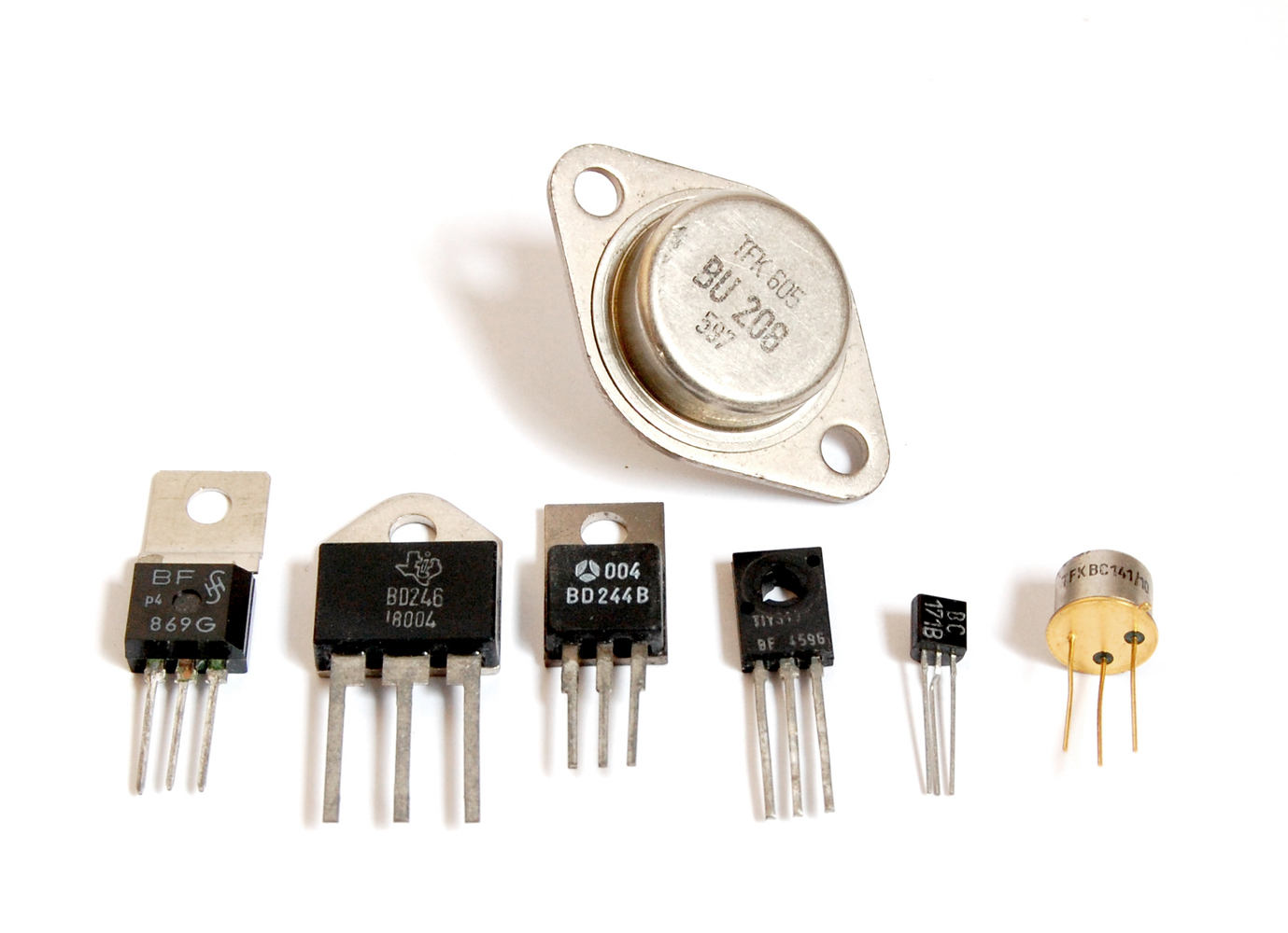 Transistors in different housings