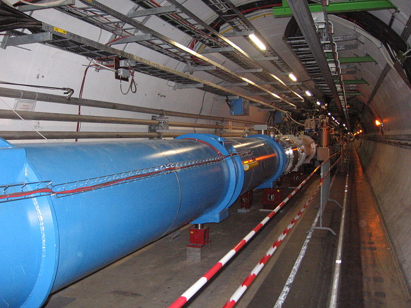 Inside the LHC tunnel