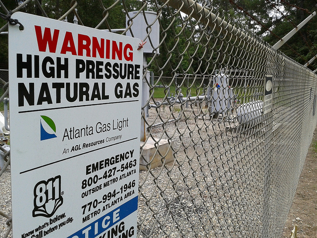 Natural Gas Warning Sign