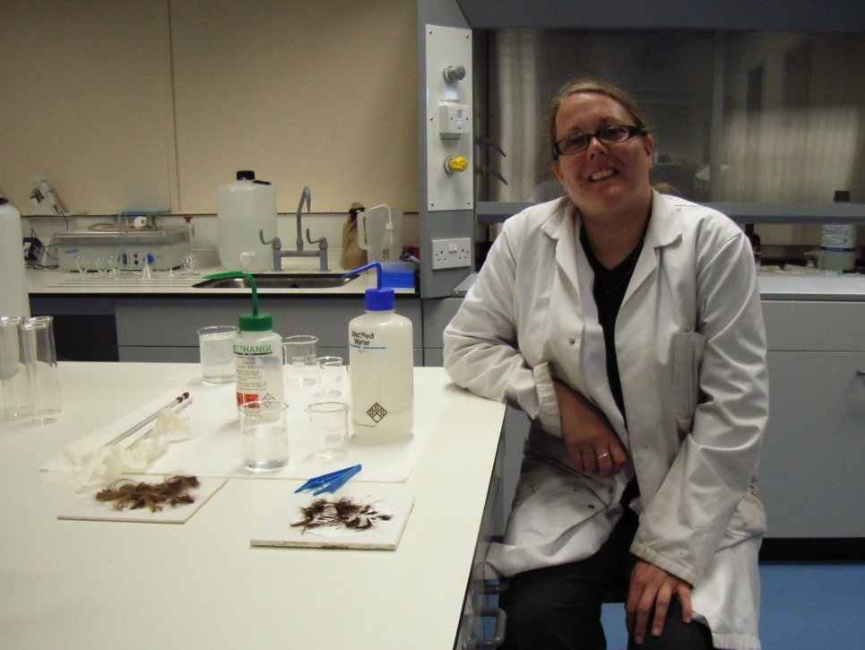 Sarah Hall in her lab