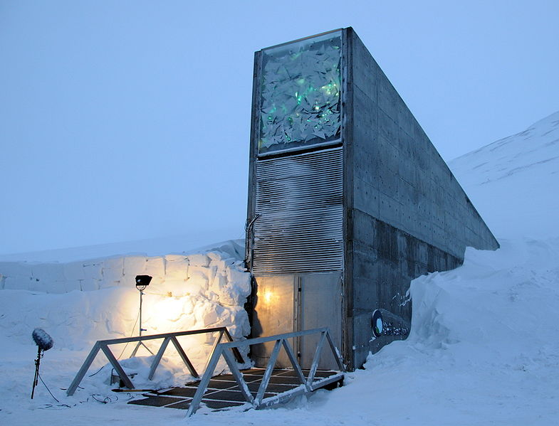 Front entrance of the Svalbard Global Seed Vault.