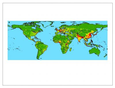 Zoonotic pathogens passed from wildlife to people, from lowest occurrence (green) to highest (red).