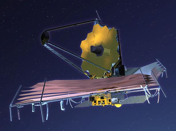 Artists impression of the James Webb Space Telescope