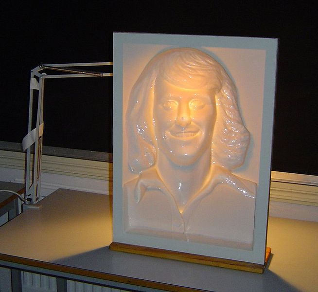 A Hollow mask illusion of Swedish tennis player Björn Borg