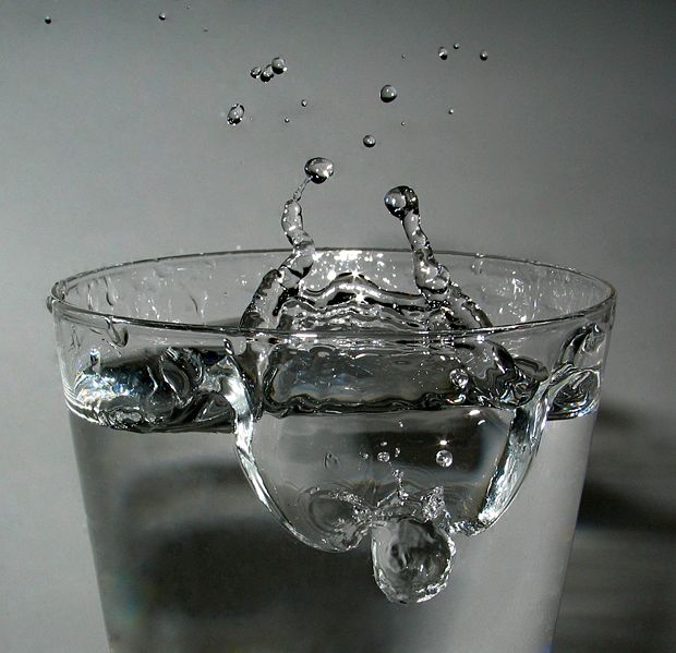 Impact of a drop of water.
