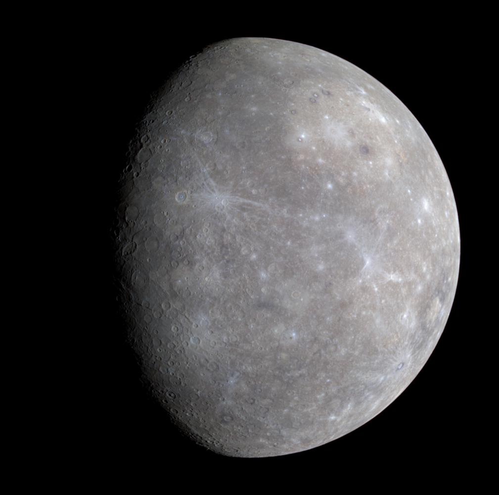 Full colour image of Mercury from the first MESSENGER flyby