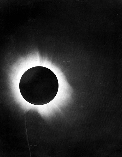 From the report of Sir Arthur Eddington on the expedition to verify Albert Einstein's prediction of the bending of light around the sun.