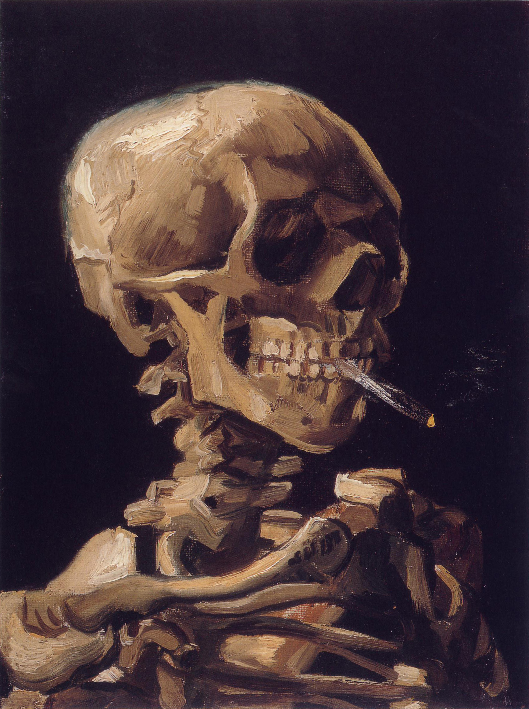 Van Gogh's Skull with a Burning Cigarette