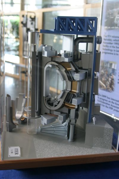 A model of a cross section of ITER