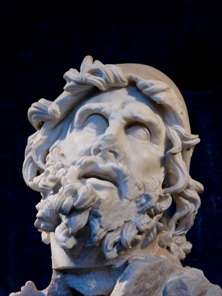 Head of Odysseus from a sculptural group representing Odysseus killing Polyphemus.