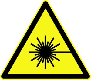 Warning symbol for laser beam