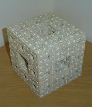 3D printed model of the Menger sponge