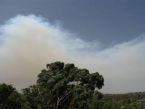 Bushfire smoke east of Melbourne