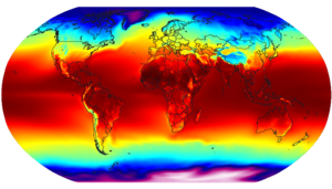 Global air temperature