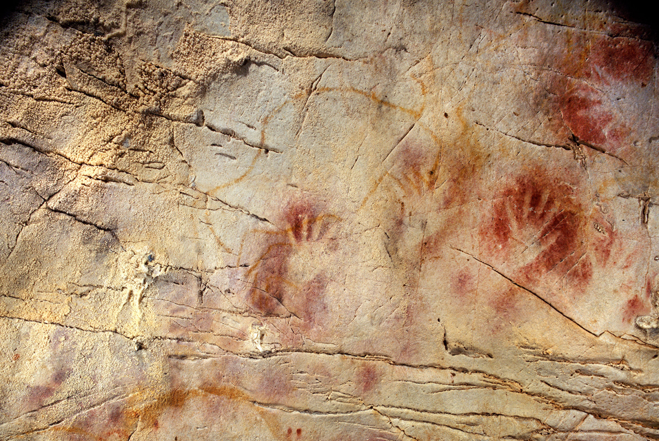 Stone Age Cave Art - Panel of Hands