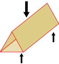 Triangular tube