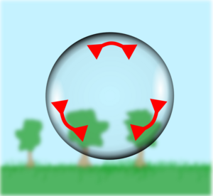 Forces in a bubble skin