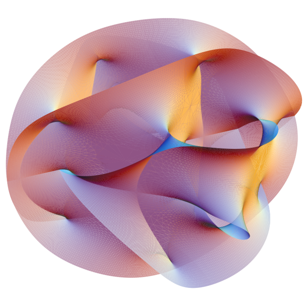 Calabi–Yau manifold. This image appeared on the cover of the November 2007 issue of en:Scientific American.