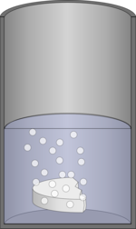 Fizzy tablet in cannister