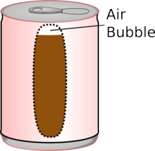 Bubble in can