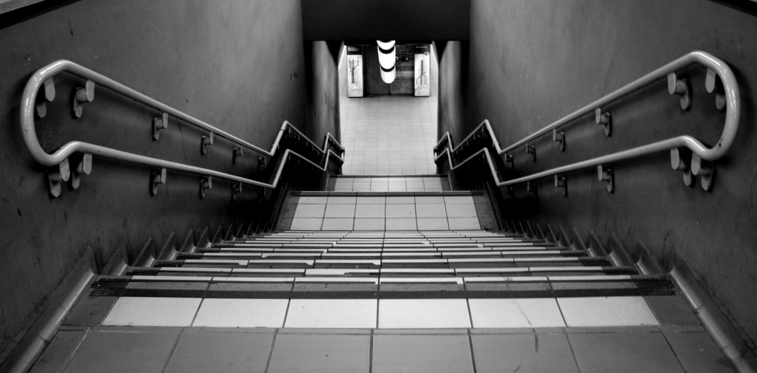 Stairs at milan station