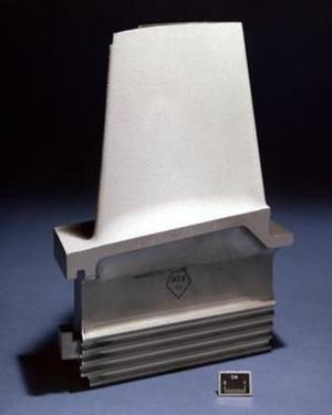 Turbine blade with a thermal barrier coating
