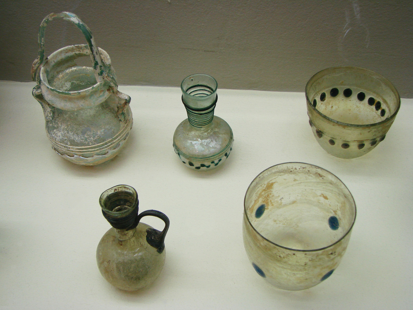 Selection of 4th century Gallo-Roman glass