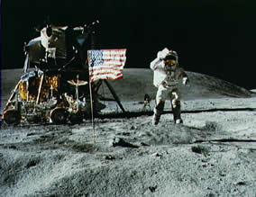 The Apollo XVI mission to the moon, 1972 (Image courtesy of NASA archive).
