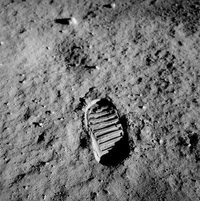 Apollo-11 Buzz Aldrin's Bootprint