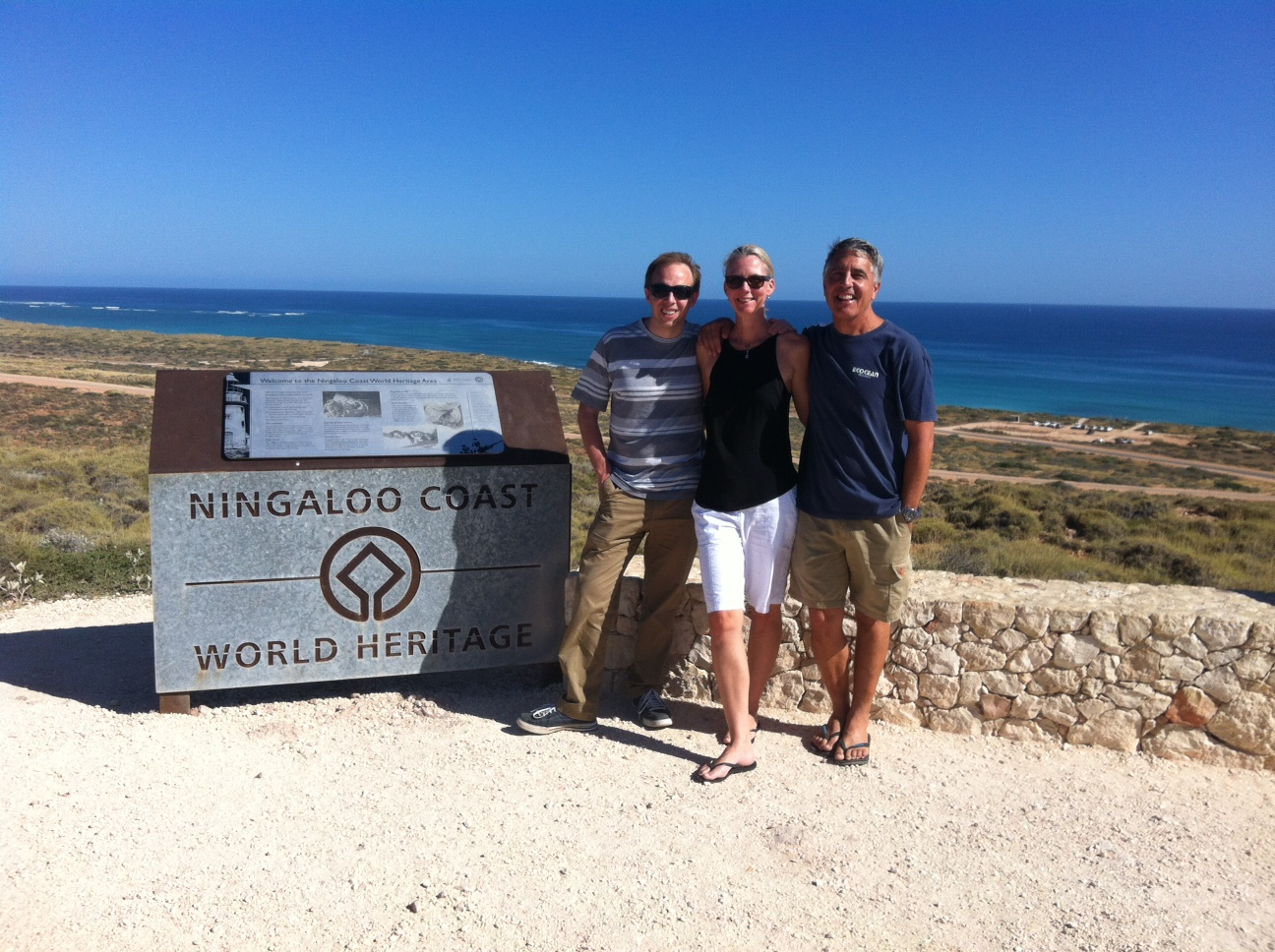 Chris Smith, Sam Reynolds and Brad Norman at Ningaloo