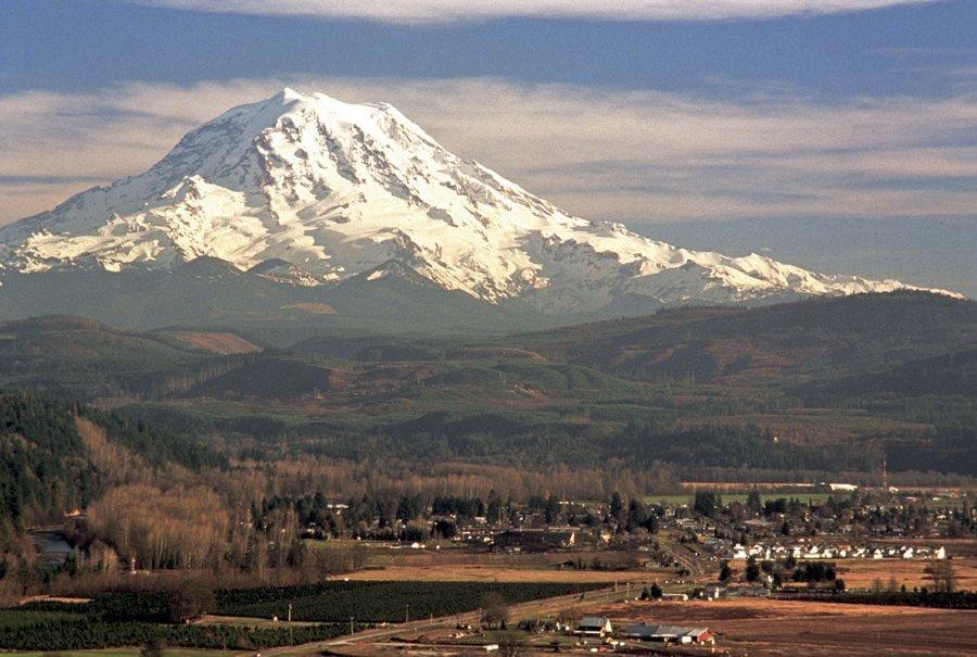 Snow-clad volcano