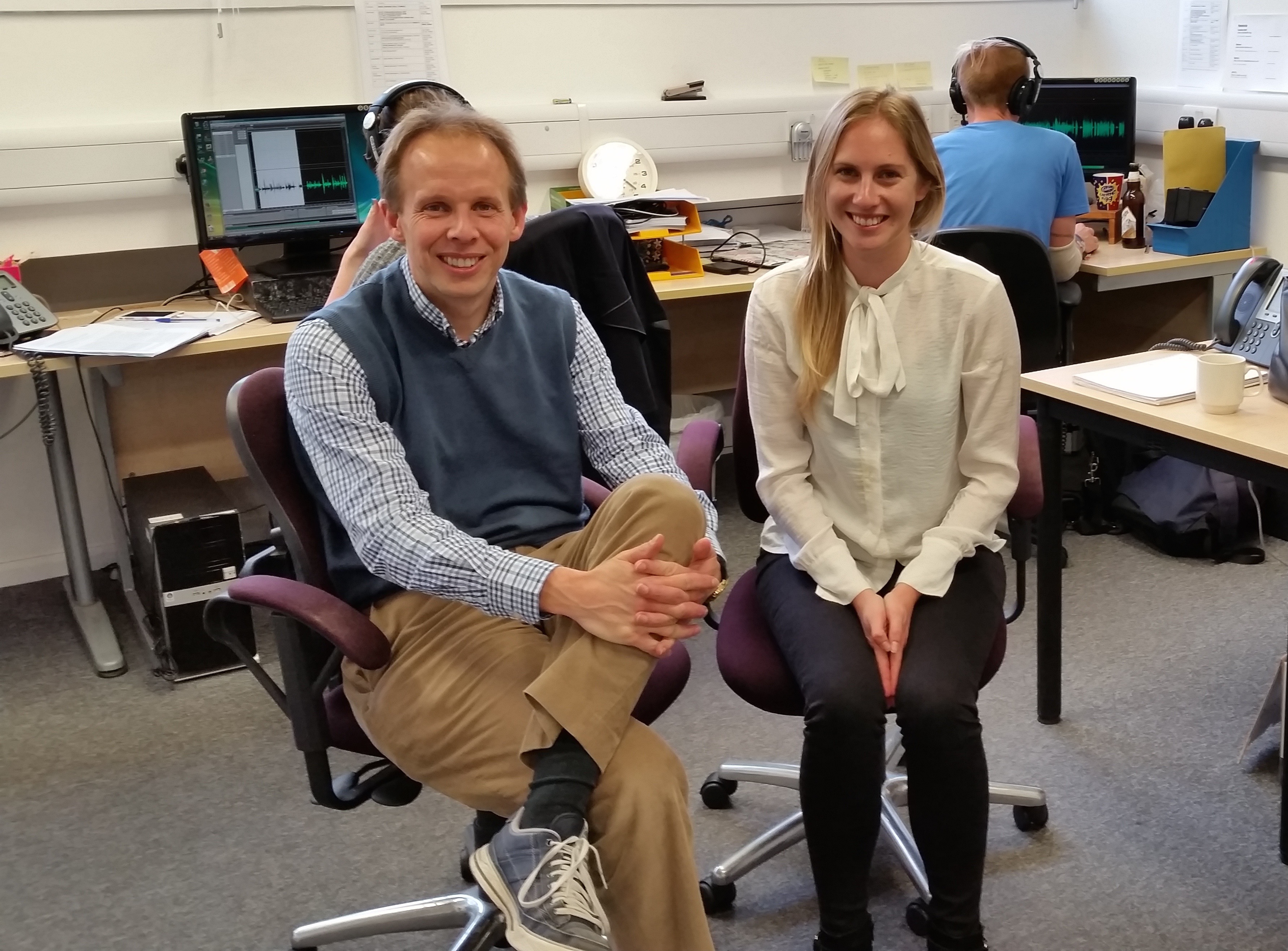 Chris and Jacinta in Cambridge