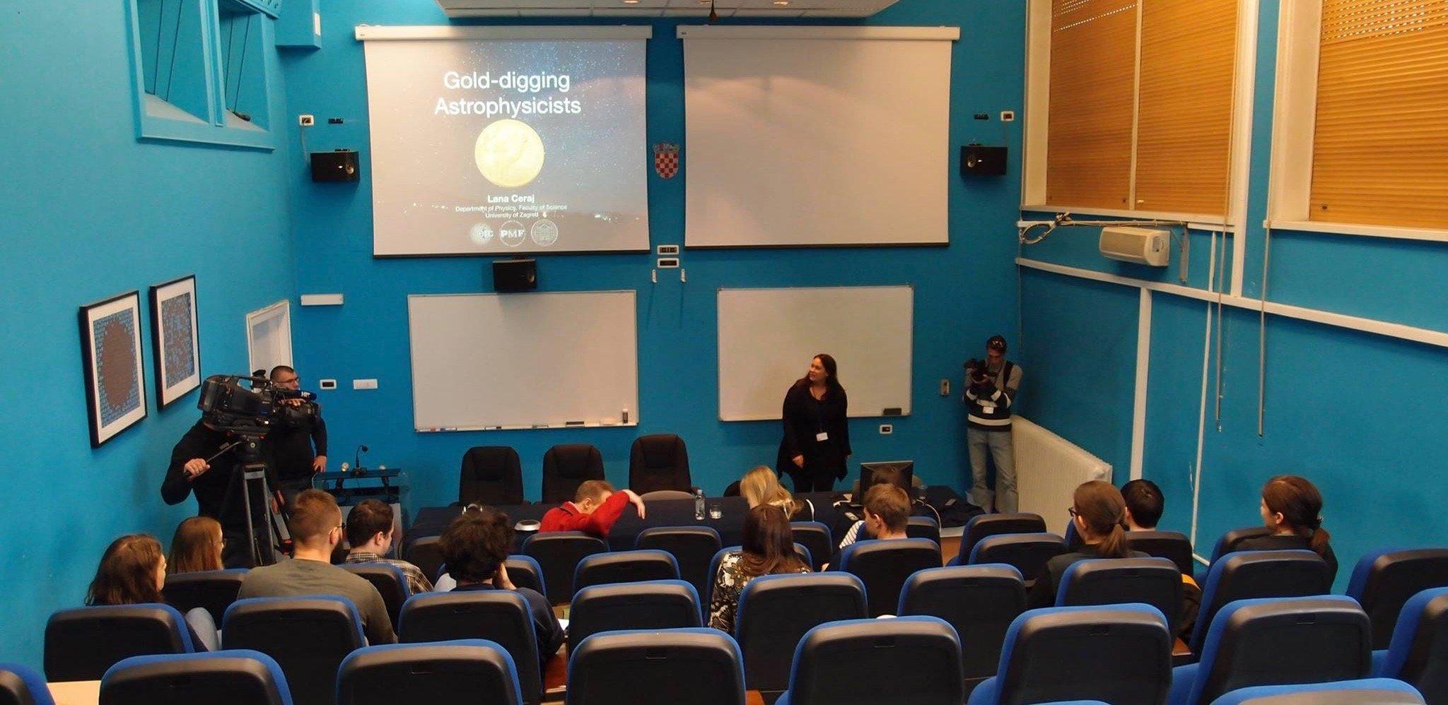 Lana Ceraj presents at the Naked Science Master Class in Zagreb