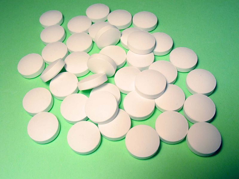 A pile of round pills / tablets