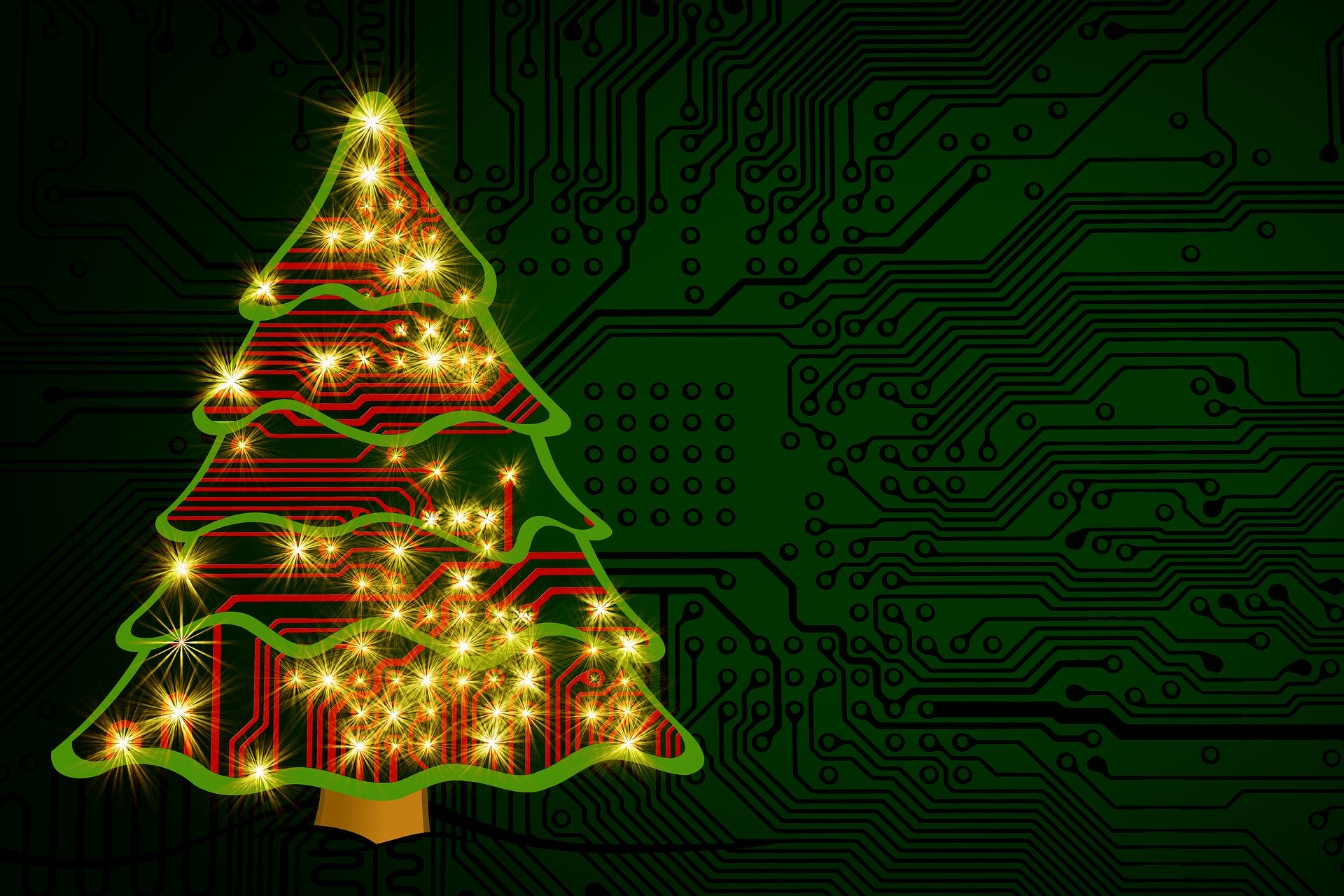 christmas tree circuit board