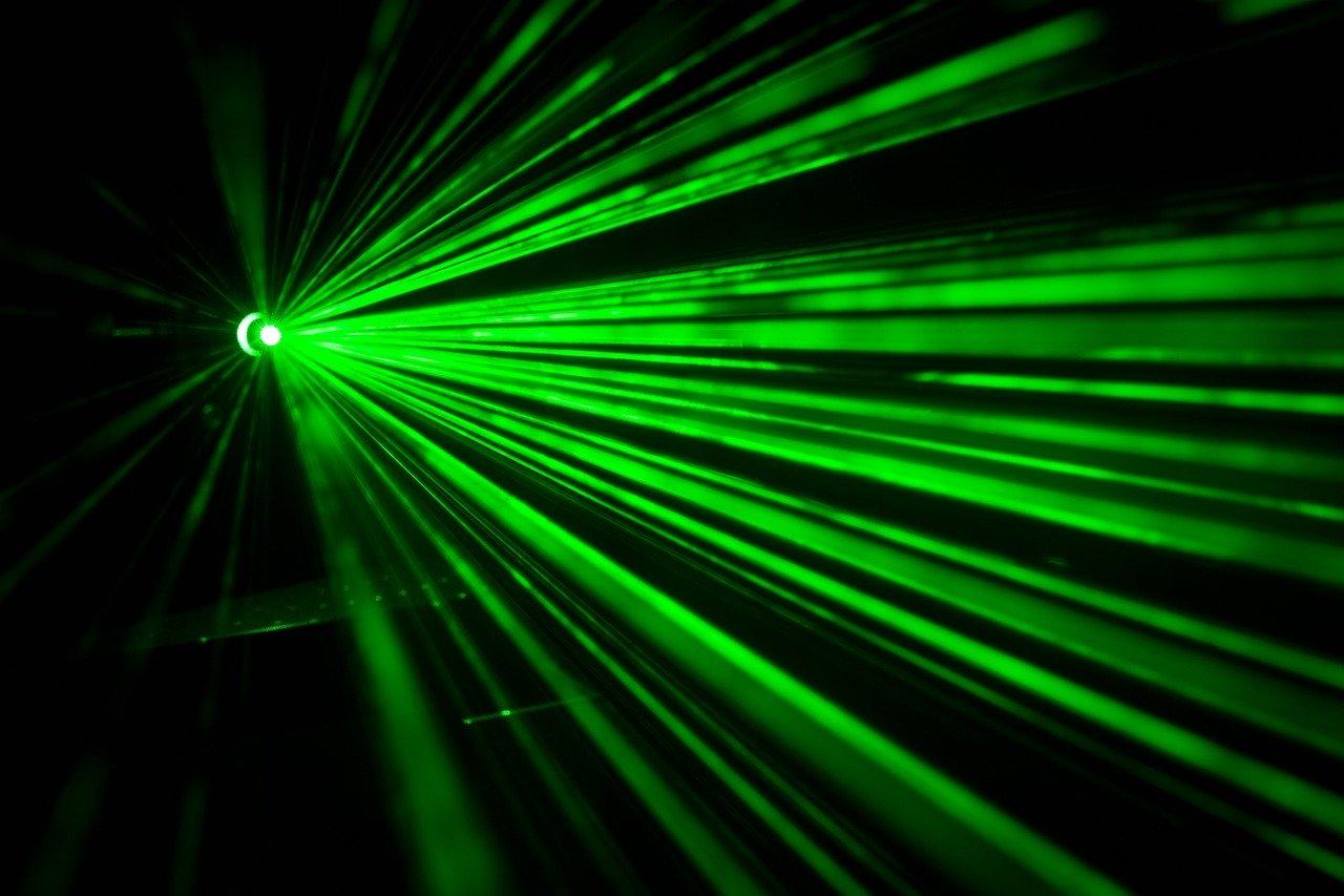 A green laser