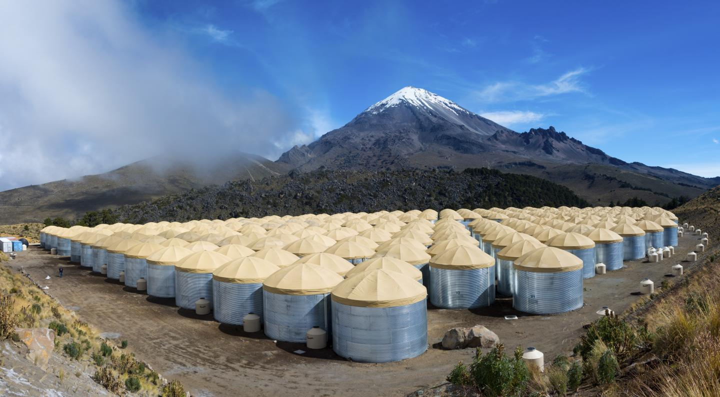 The HAWC detector array in Mexico